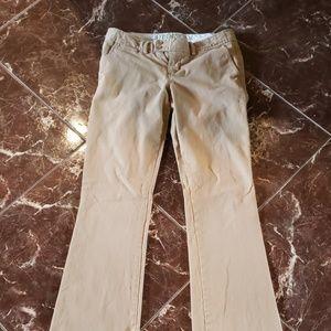 Abercrombie khaki pants boot cut